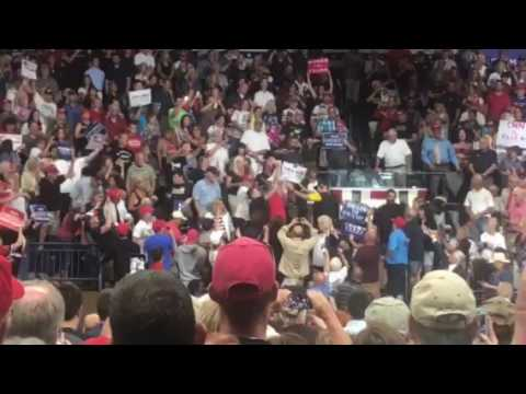 Protester removed from Trump rally in Youngstown