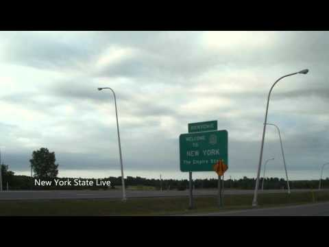Welcome to New York State (The Empire State) - Interstate 87 - Bienvenue dans l'État de New York