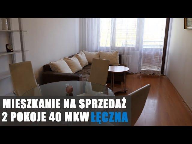 Mieszkanie do sprzedania. Łęczna, 40 mkw 2 pokoje, parter, balkon.