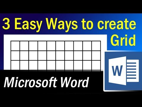 3 Easy Ways to create Grid in Microsoft Word - YouTube - making graph paper in word