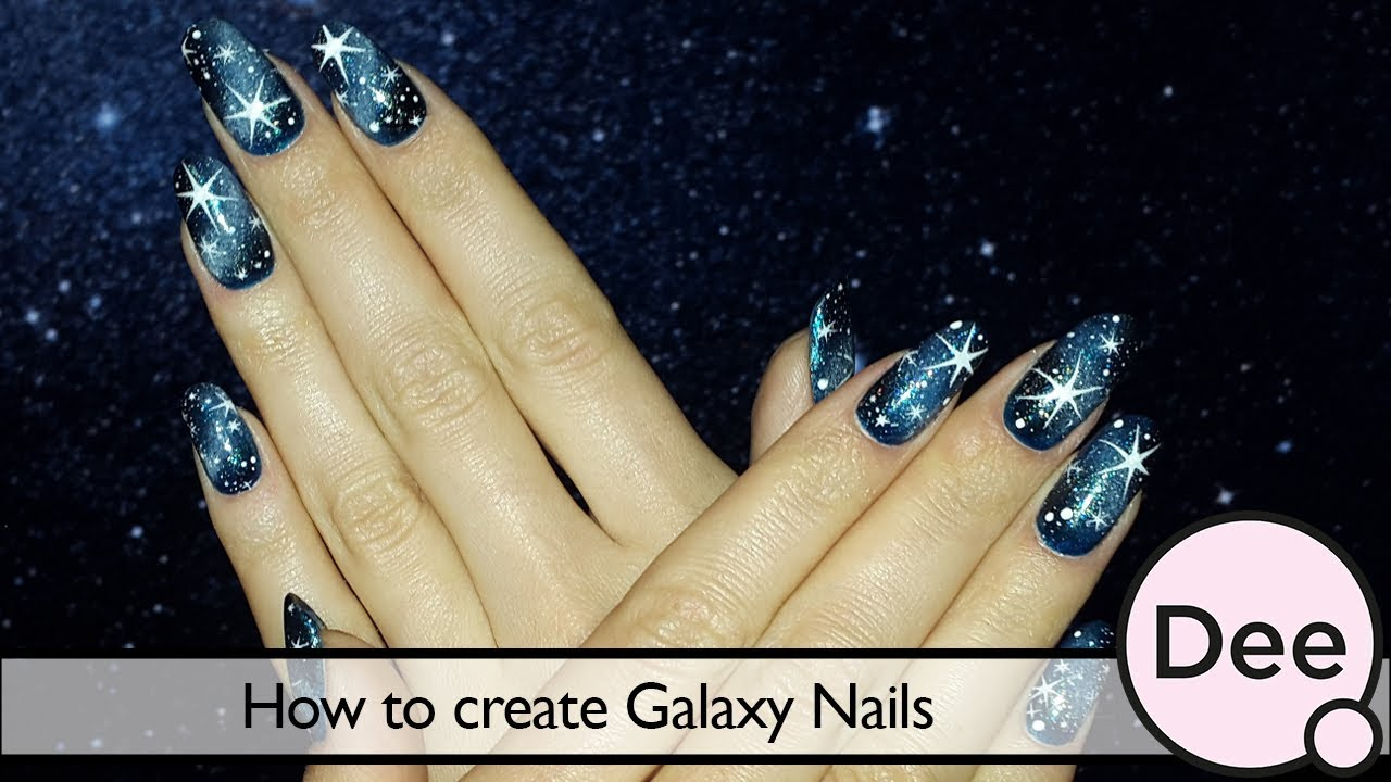 How to create Galaxy Nails - YouTube