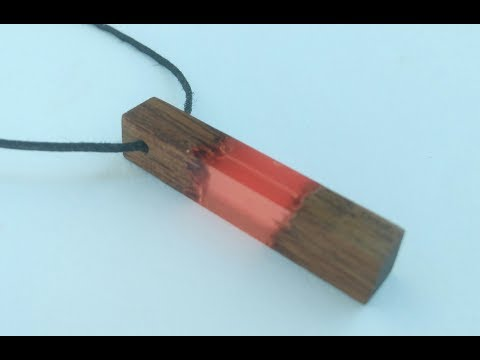 DIY Epoxy resin wood pendant necklace | resin jewelry | resin craft
