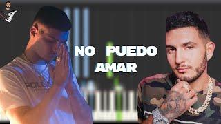 Omar Montes x Rvfv - No Puedo Amar   Piano Tutorial + Tutorial / Karaoke by CesarFullHDMusic