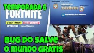 BUG SAVE THE WORLD FREE FORTNITE SEASON 6