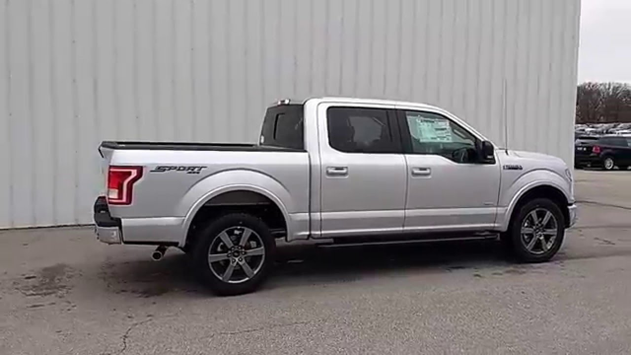ingot silver 2016 f 150 supercrew 4x4 xlt sport appearance package o 39 fallon mo youtube. Black Bedroom Furniture Sets. Home Design Ideas