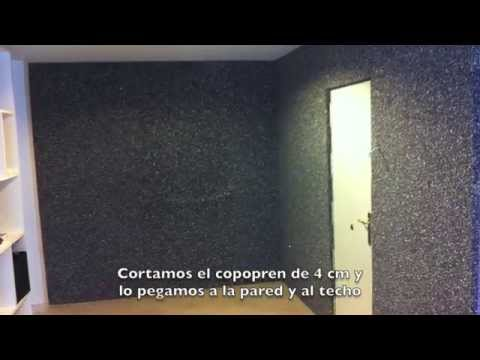 Paneles ac sticos caseros sonido bater a funnydog tv for Insonorizar cuarto