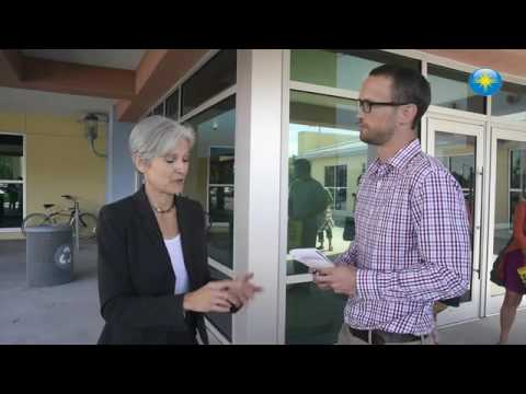 Green Party presidential candidate Jill Stein talks with Herald-Tribune Political Editor  Zac Anders