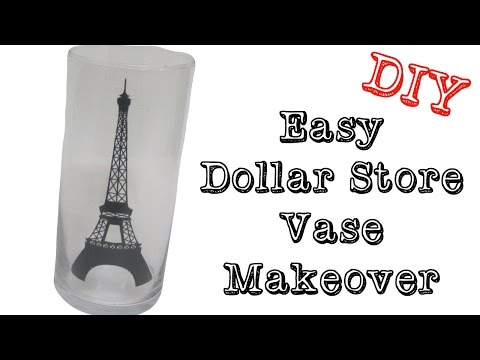 Easy Dollar Store Vase Makeover DIY