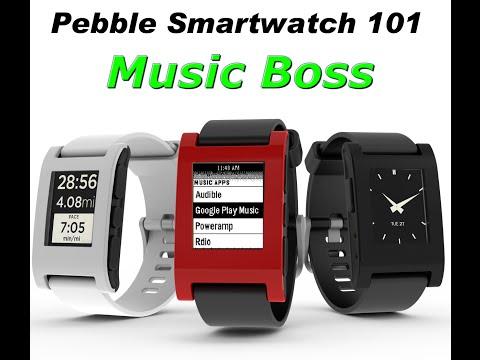 Pebble Smartwatch- Music Boss