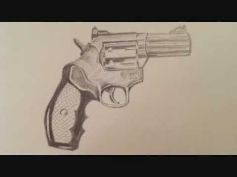 How To Draw A Gun Pistol Youtube