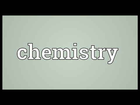 Chemistry Meaning