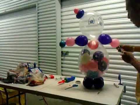 Decoracion con globos como hacer un payaso de globos for Como hacer decoracion con globos