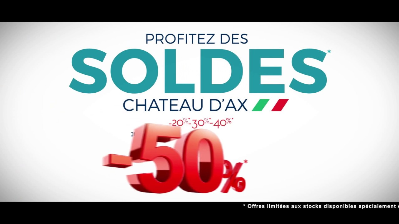 chateau d 39 ax soldes janvier 2017 youtube. Black Bedroom Furniture Sets. Home Design Ideas