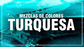 Como Hacer El Color Turquesa Turquesa Claro Azul Verde Aguamarina Mezclas De Colores Fácil Youtube