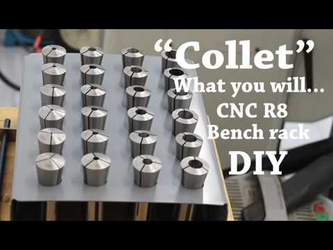 Bridgeport mill (clone) R8 collet rack build DIY