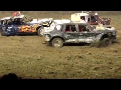 Capital city carnage demo derby Topeka KS consi #1 4/30/16