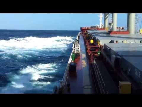 Ship in big waves - Cape of good hope