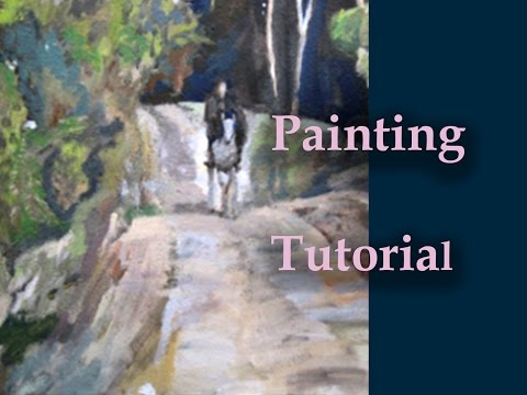 Landscape-Acrylic Painting- Paint From A Movie Scene(easy way to paint dark wood)