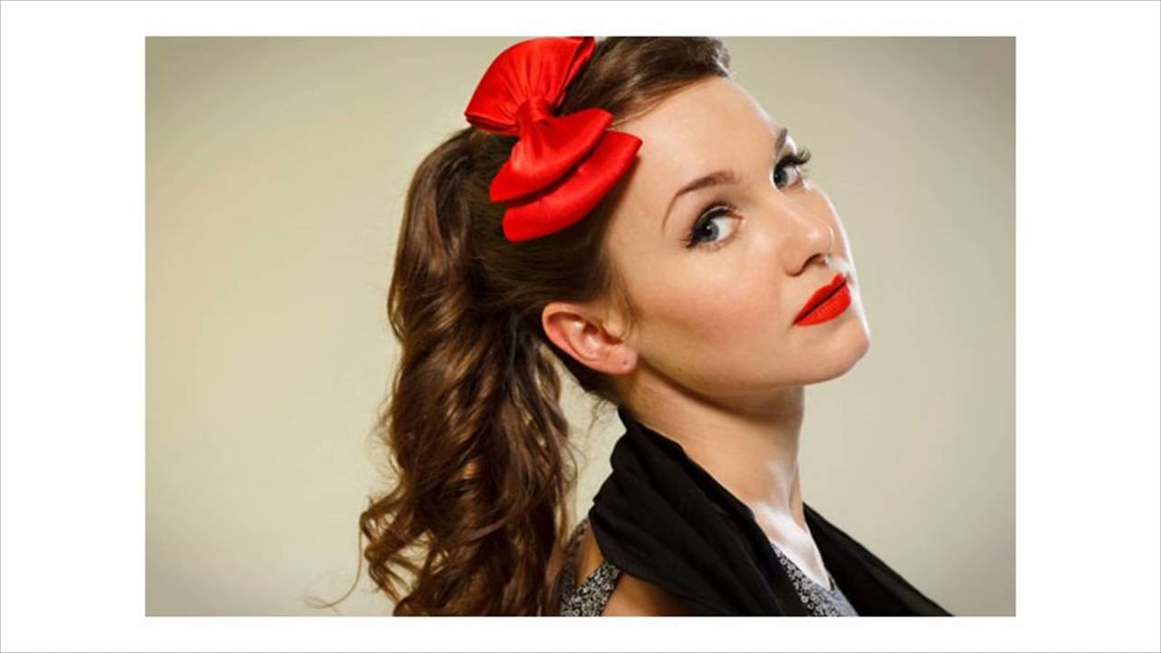 The 1950's Inspired Ponytail - YouTube - photo #48