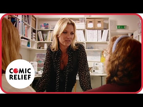 The Katy Brand  with Kate Moss  Comic Relief