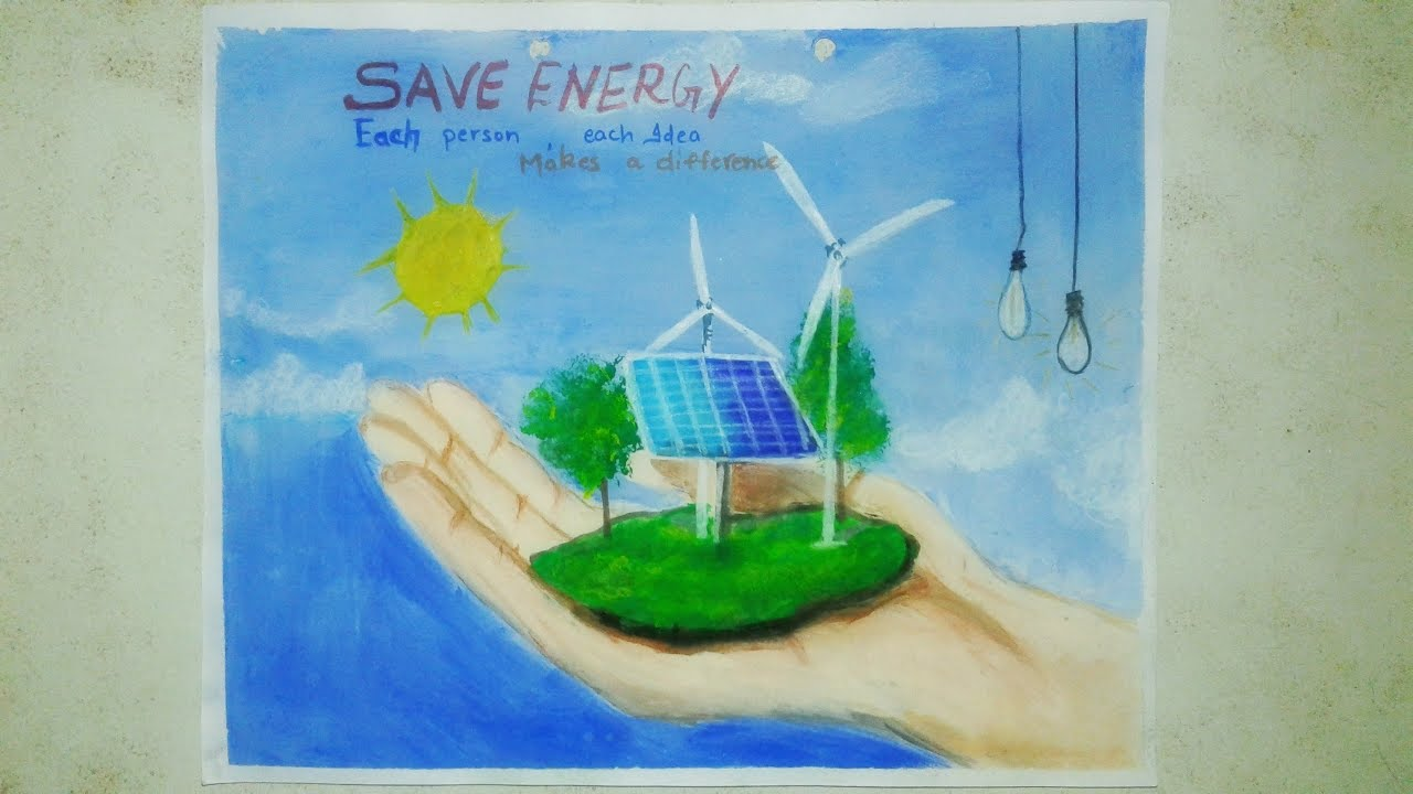 Poster On Energy Conservation Save Energy Drawings How To