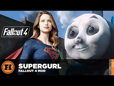 Mod Gameplay - SUPERGIRL in Fallout 4!