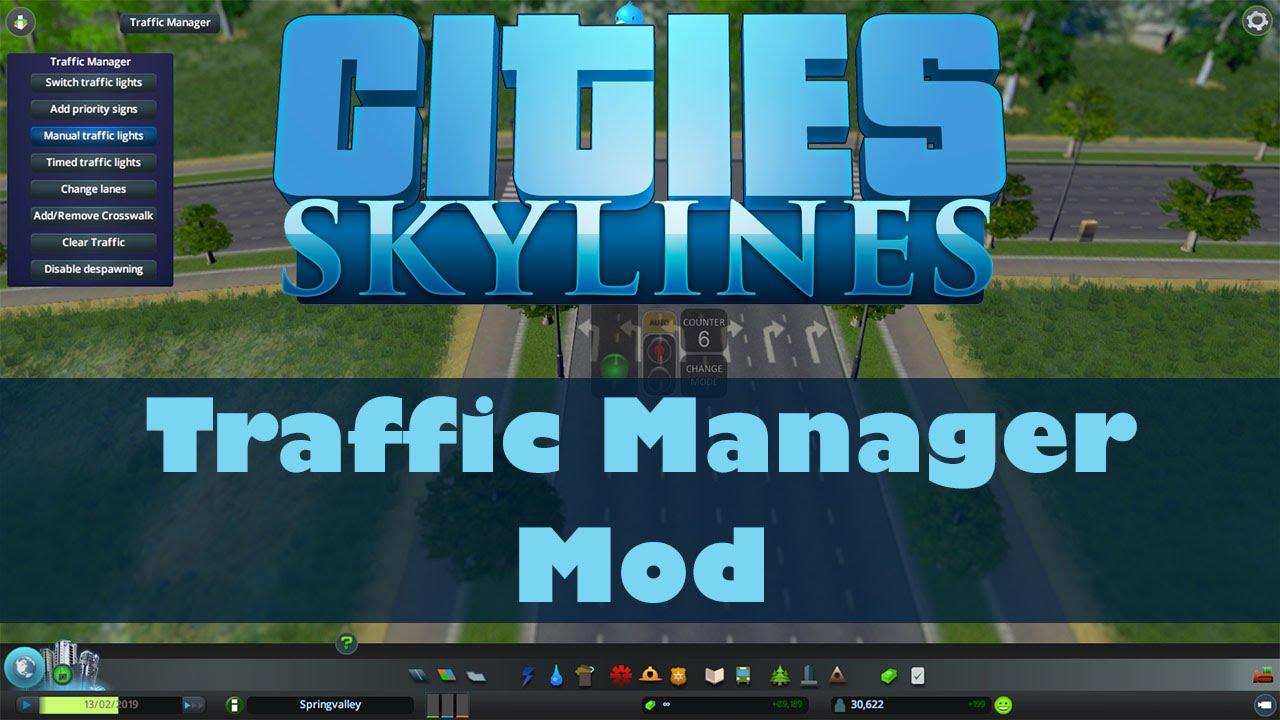 скачать мод traffic для cities skylines