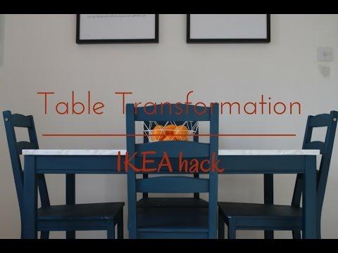 Table transformation | IKEA hack
