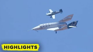 Watch Virgin Galactic touch down after Richard Branson's first space flight