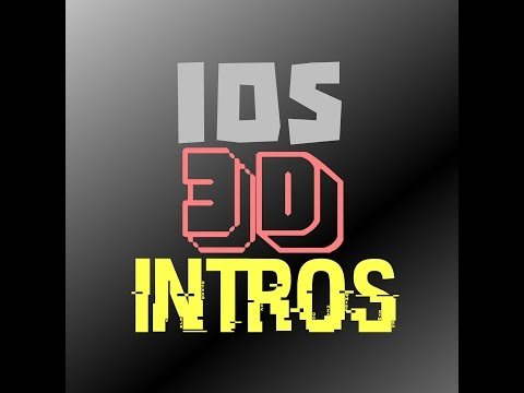 HOW TO MAKE A 3d INTRO IOS W/ FREE MUSIC AND EFFECTS