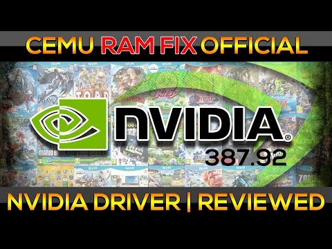 Cemu Ram Fix | BotW | Official NVIDIA Driver FOR ALL!