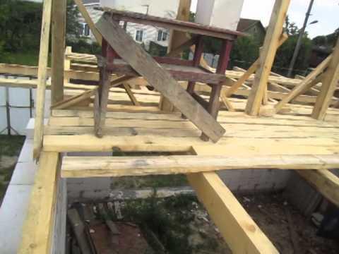 видео: Крыша дома своими руками Мансарда мауэрлат Строим дом из газобетона