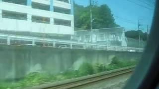 2018 08 車窓・JR東海道線 E233系3000番台 小田原~大船