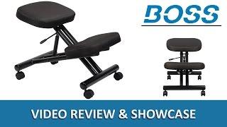 Ergonomic Kneeling Stool / Kneel Office Chair - Boss B248 - DigitalBuyer.com
