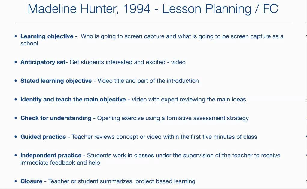 Flipped Lesson Plan Using Madaline Hunters Approach YouTube – Madeline Hunter Lesson Plan Template