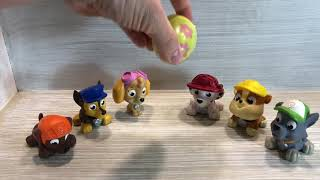 Paw Patrol finds a Surprise Egg filled with Slime!!