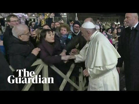 Indignant Pope Francis slaps woman's hand to free himself at New Year's Eve gathering