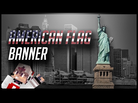 How To Make An American Flag Banner In Minecraft!