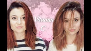Zesvětlování vlasů VITAMÍNEM C!