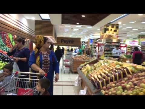 ► Supermarket in Ashgabat / Turkmenistan for privileged - unreal Turkmenistan?!