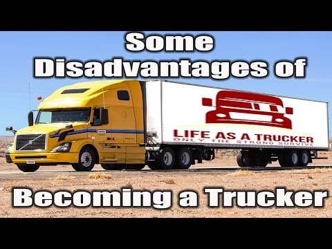 disadvantages of trucking jobs