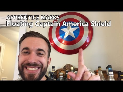 Floating Captain America Shield