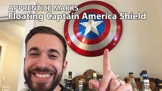 Floating Captain America Shield