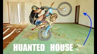 Riding My Dirtbike In Abandoned House!!!