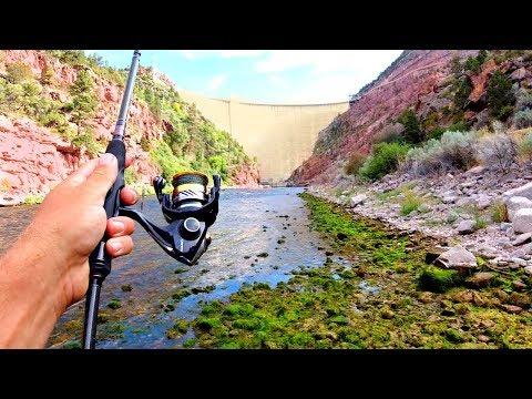 crazy-day-fishing-below-massive-dam!!
