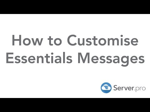 How To Customise Essential's Messages - Minecraft Java