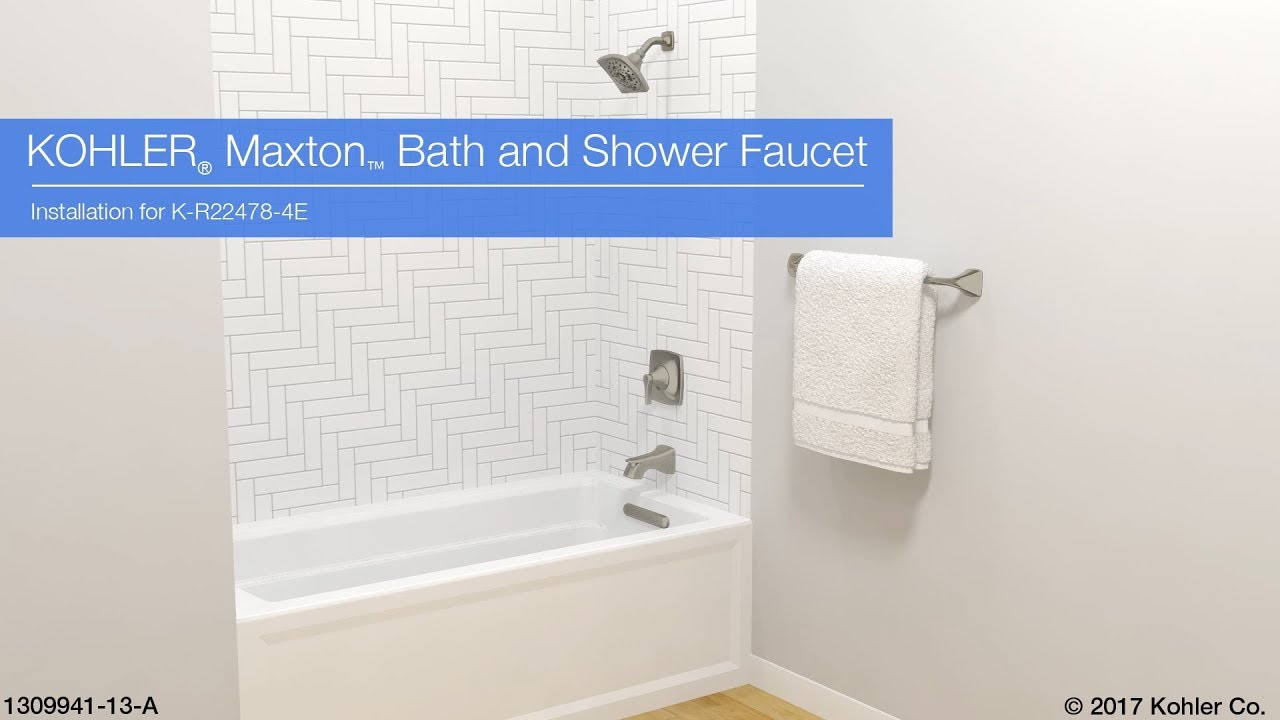 Bathroom Kohler Installation Maxton Bath And Shower Faucet