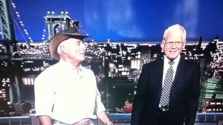 Jack Hanna with a camel on David Letterman