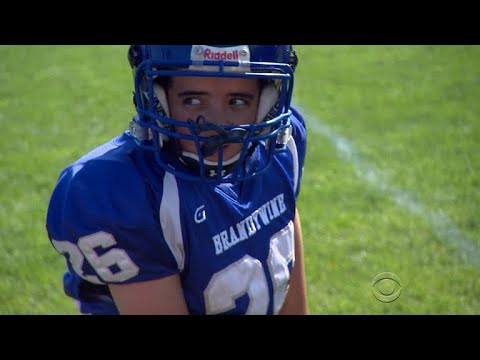Diminutive high school varsity linebacker hits hard, and surprises