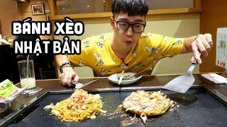 Bánh xèo Okonomiyaki NHẬT BẢN ngon nhất HÀ NỘI // SERIES NINH EATING ĂN GÌ #75